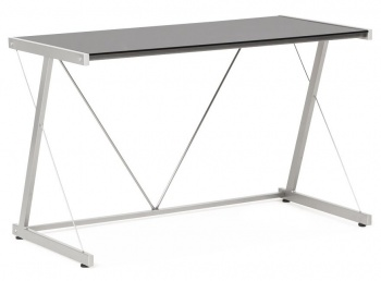 Black Glass Modern Writing Desk