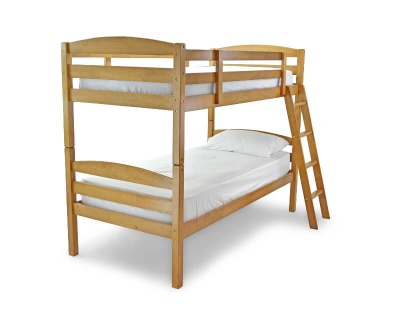 Modern Antique Pine Bunk Beds - Splits into Two Singles