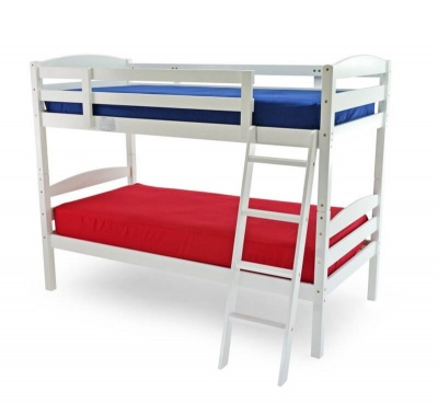 Modern White Bunk Beds - Splits into Two Singles