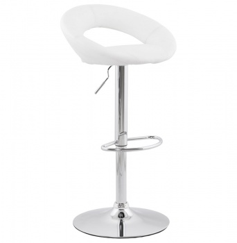 Moon Faux Leather Bar Stool Chrome steel Frame