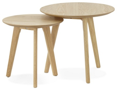 Oak Scandi Style Side Tables