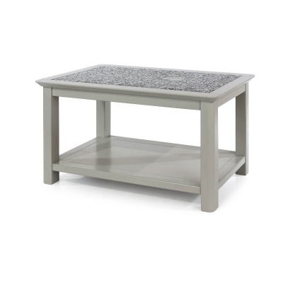 Perth Grey Coffee Table with Stone Inset
