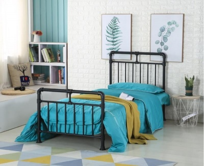 Pippa Black Metal - Single Bed Frame