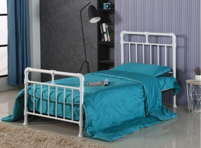 Pippa White Metal - Single Bed Frame