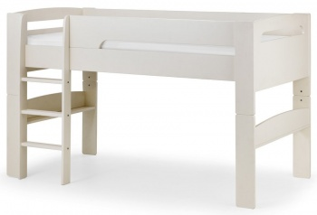 Pluto Stone White Mid sleeper - Can Convert to Single Bed