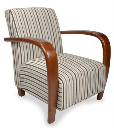 Restmore Stripe Fabric Armchair