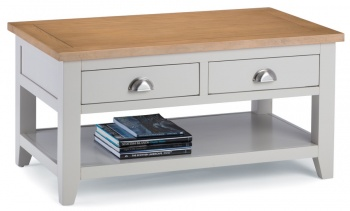 Richmond Soft Grey Coffee Table with Drawers