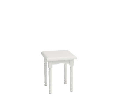 Richmond White Dressing Table Stool