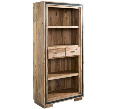 Jodhpur Sheesham Large Wide Bookcase - Solid Sheesham Wood