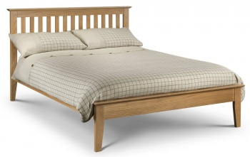 Salerno Shaker Bed Solid Oak - King-Size