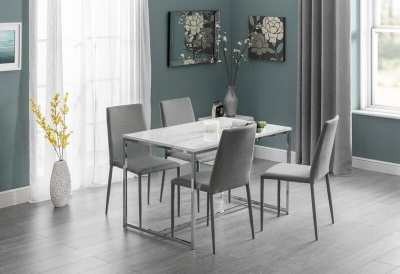 Scala Marble Effect Dining Table and 4 Chair Set