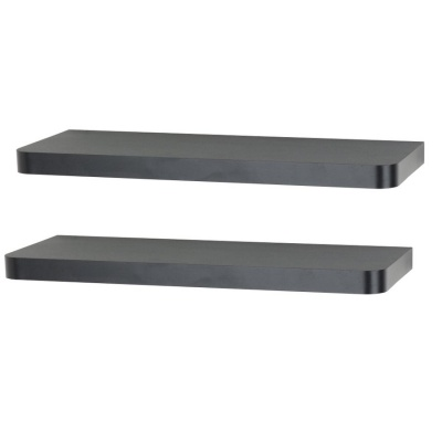 Set of 2 Arran Floating Shelves - Black