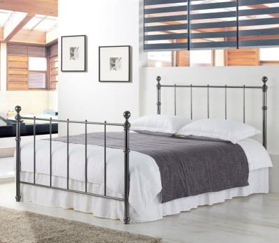 Seville Black Nickel Metal Bed Frame - King-Size