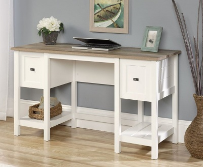 Shaker Style Home Office Desk Soft White