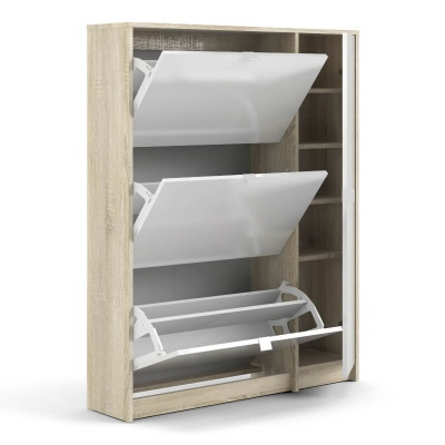 Shoes Shoe Cabinet with 3 Tilting Doors & 2 Layers & 1 Door