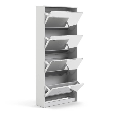 Shoes Shoe Cabinet with 4 Mirror Doors & 2 Layers