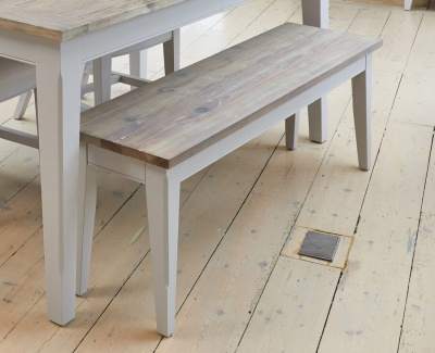 Signature Grey Dining Bench 130 cm