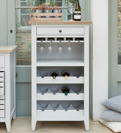 Signature Grey Wine Rack / Glass Storage Cabinet