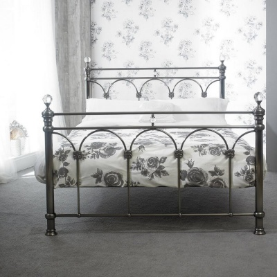 Sonita Black Nickel King-Size Bed Frame