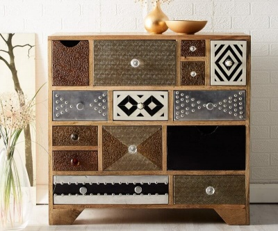 Sorio 10 Drawer Chest - Handcrafted