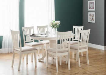 Stamford Ivory Extending Dining Table & Chairs