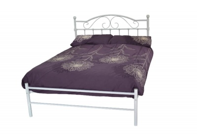 Sussex Traditional White Metal Low Foot End Bed Frame - King-Size