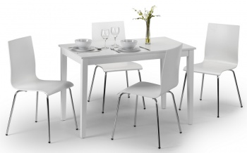 Taku White Dining Table &  4 Chairs