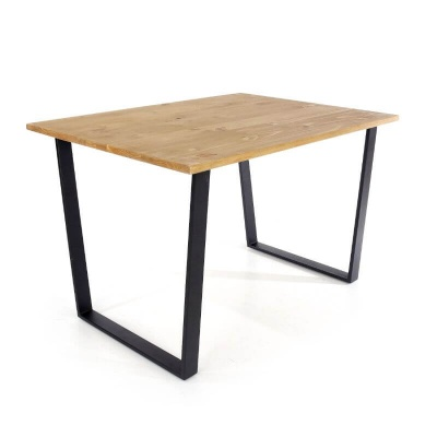 Texas Rectangular 118 cm Dining Table with Black Metal Legs