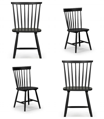 Torino Lunar Black Dining Chairs - Set of 4