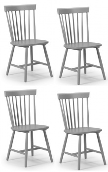 Torino Lunar Grey Dining Chairs - Set of 4