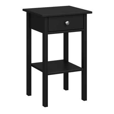 Tromso Black 1 Drawer Nightstand