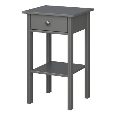 Tromso Grey 1 Drawer Nightstand