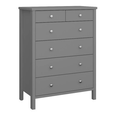 Tromso Grey 2 + 4 Drawer Chest