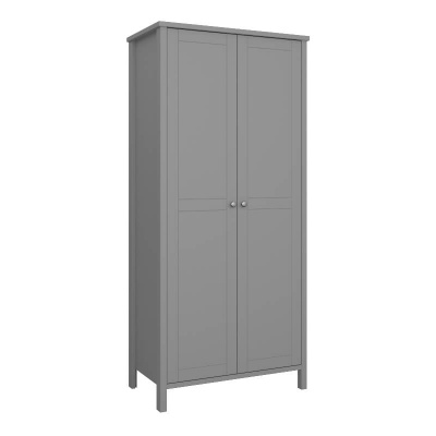 Tromso Grey 2 Door Wardrobe