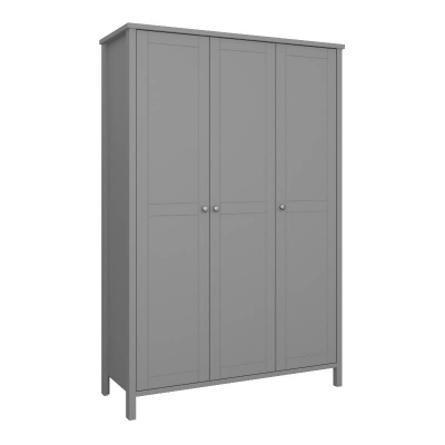 Tromso Grey 3 Door Wardrobe