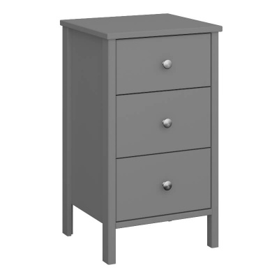 Tromso Grey 3 Drawer Bedside