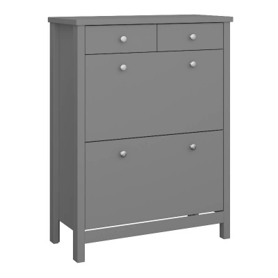 Tromso Grey Shoe Cabinet