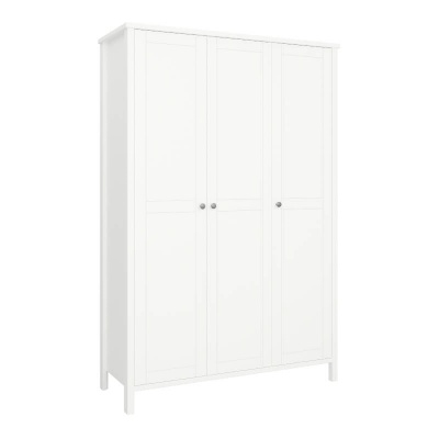 Tromso White 3 Door Wardrobe