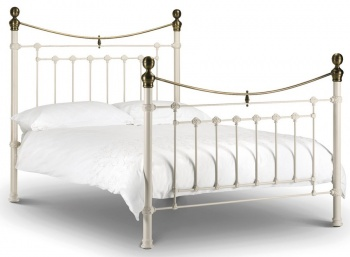 Victoria Stone White - Double Bed Frame
