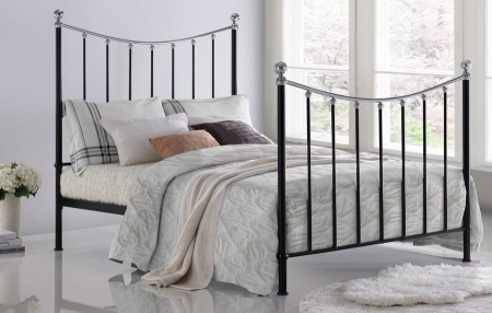 Vienna Black Metal Bed Frame - King-Size