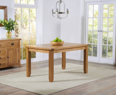 York Oak 140 cm Dining Table