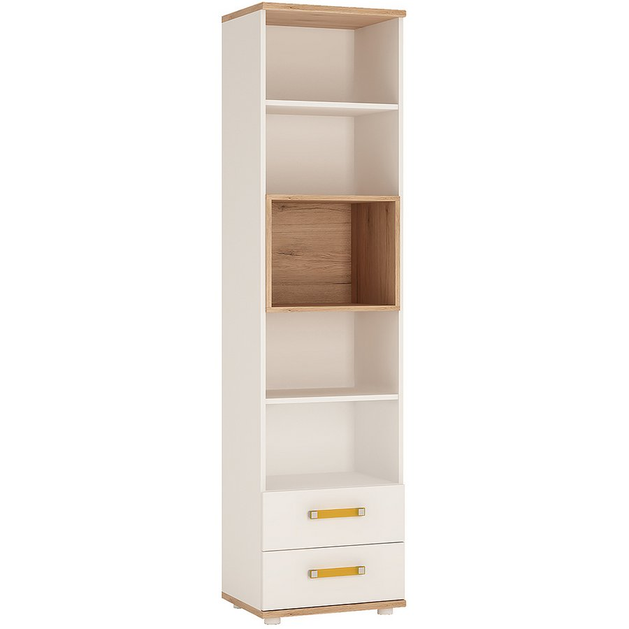 4 Kids Tall 2 Drawer Bookcase