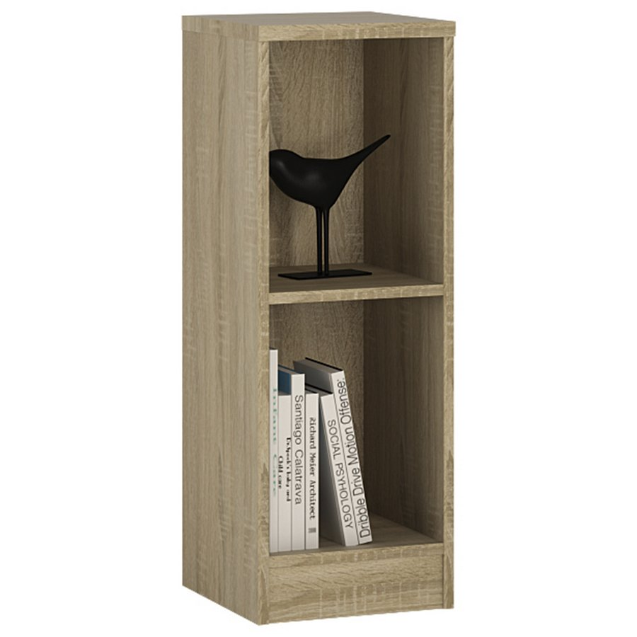 4 You Low Narrow Bookcase - Sonama Oak