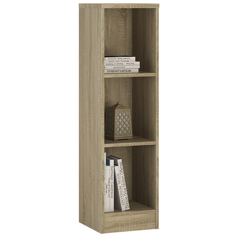 4 You Medium Narrow Bookcase - Sonama Oak