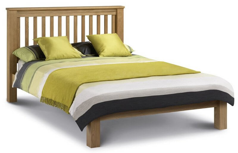 Amsterdam Oak Double Bed Low Foot End