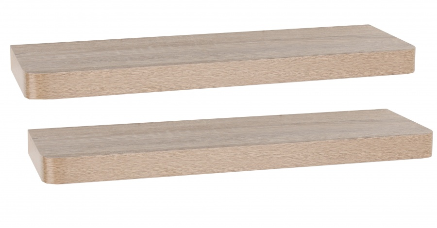 Set of 2 Arran Floating Shelves - Oak