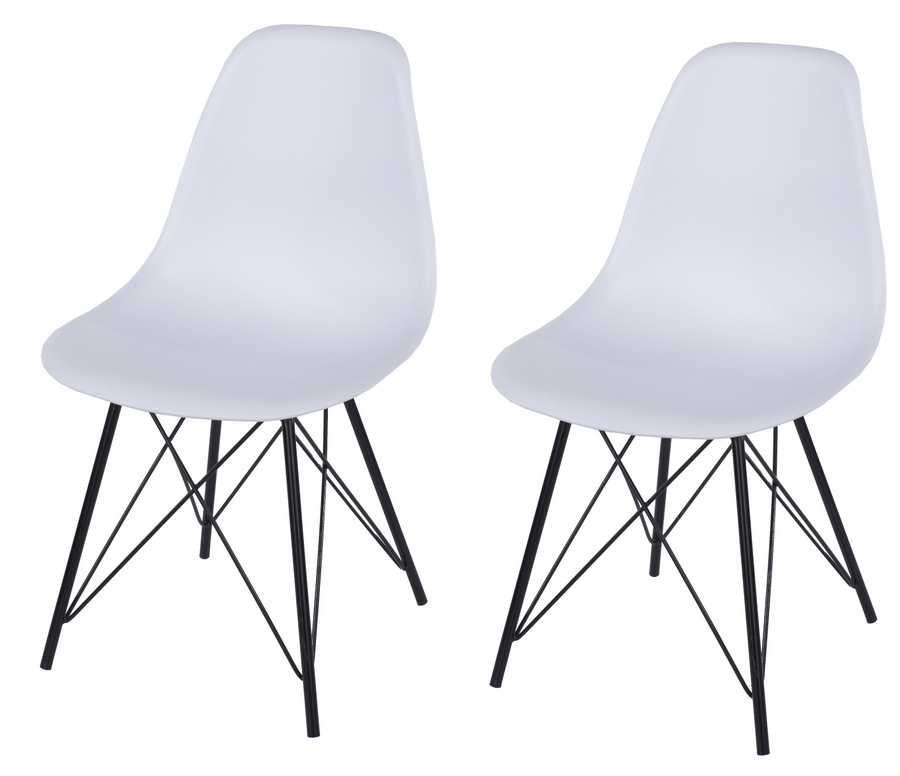 Peachy Aspen Design Plastic Chair With Black Metal Legs Pair Caraccident5 Cool Chair Designs And Ideas Caraccident5Info