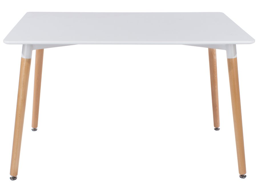 Delightful Aspen Rectangular White Dining Table