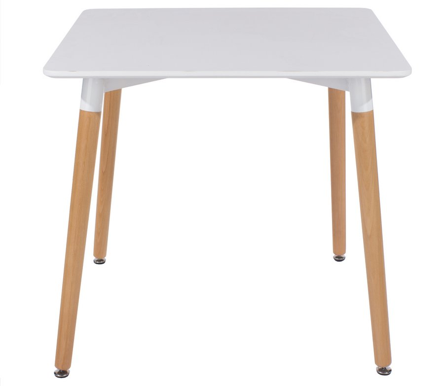 Table Carree Blanche: Aspen Square White Dining Table