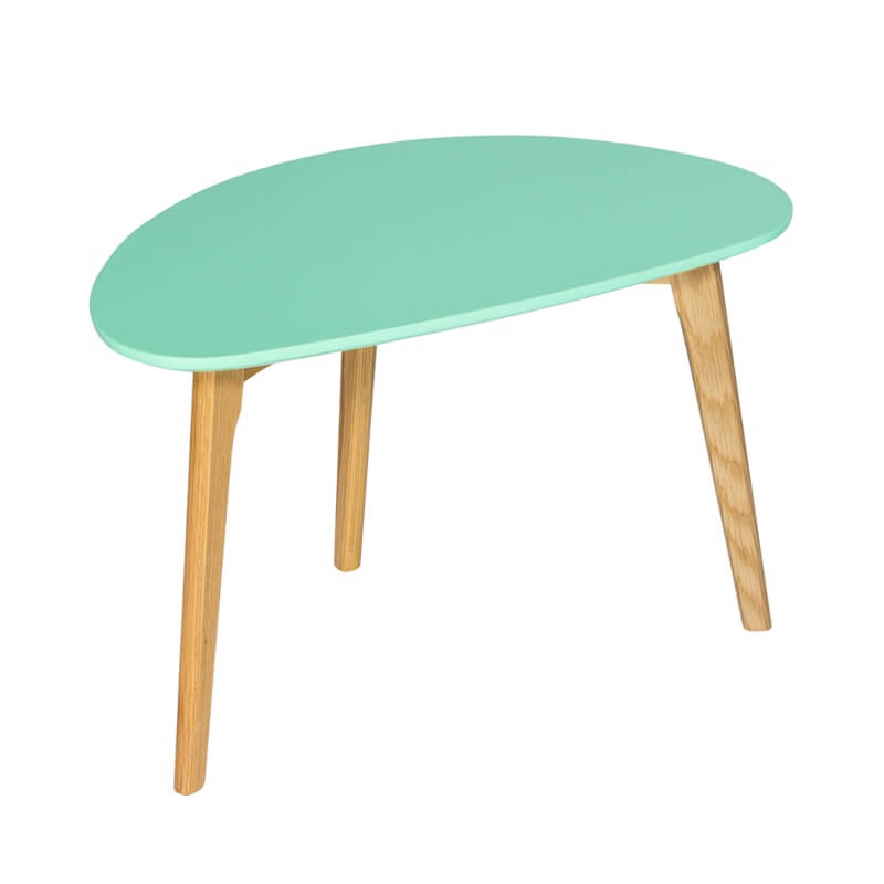 Astro Coffee Table Aqua with Wooden Legs